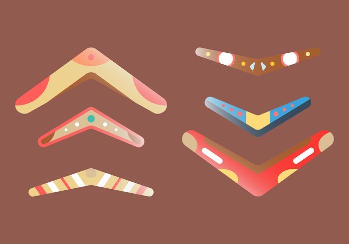 Free Boomerang Vector Set