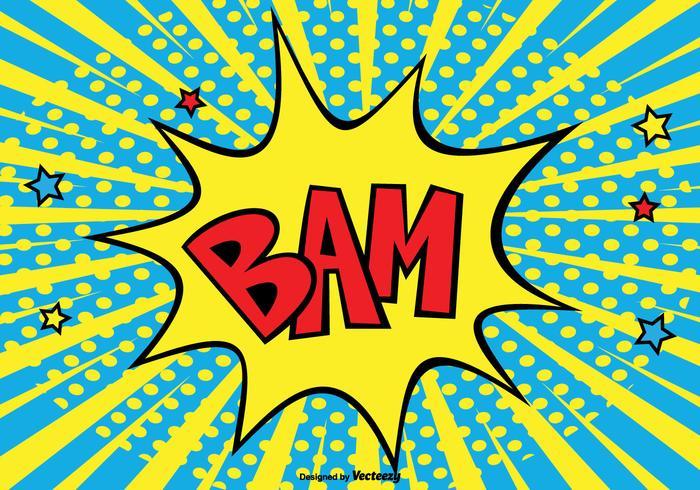 Ilustración de fondo de estilo cómico BAM