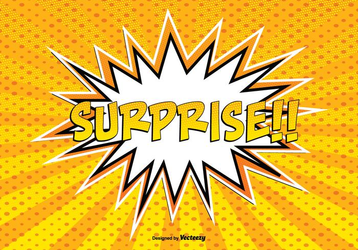 Comic Style Surprise llustration