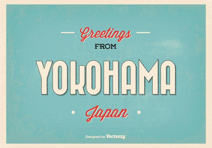 Yokohama Japan hälsning illustration