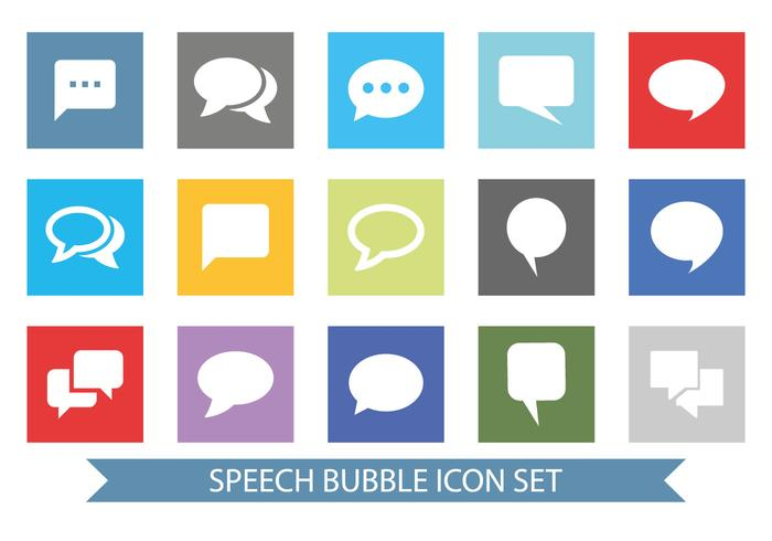 Message Bubble Icon Set