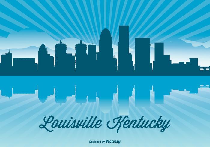 Louisville Kentucky Skyline Illustration