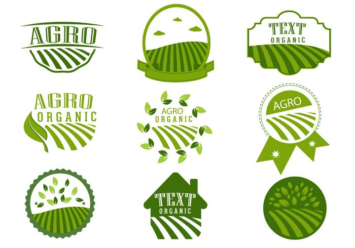 Simple Agro Symbol Logo Design Vectors