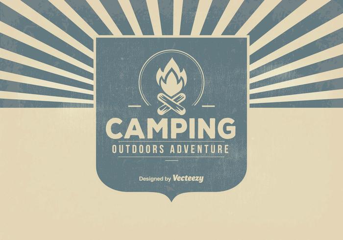 Retro Camping Background Illustration