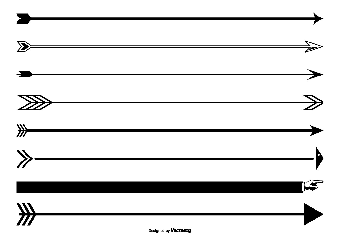 Vector Drawing Lines Excel : Arrow page divider set download free vector art stock