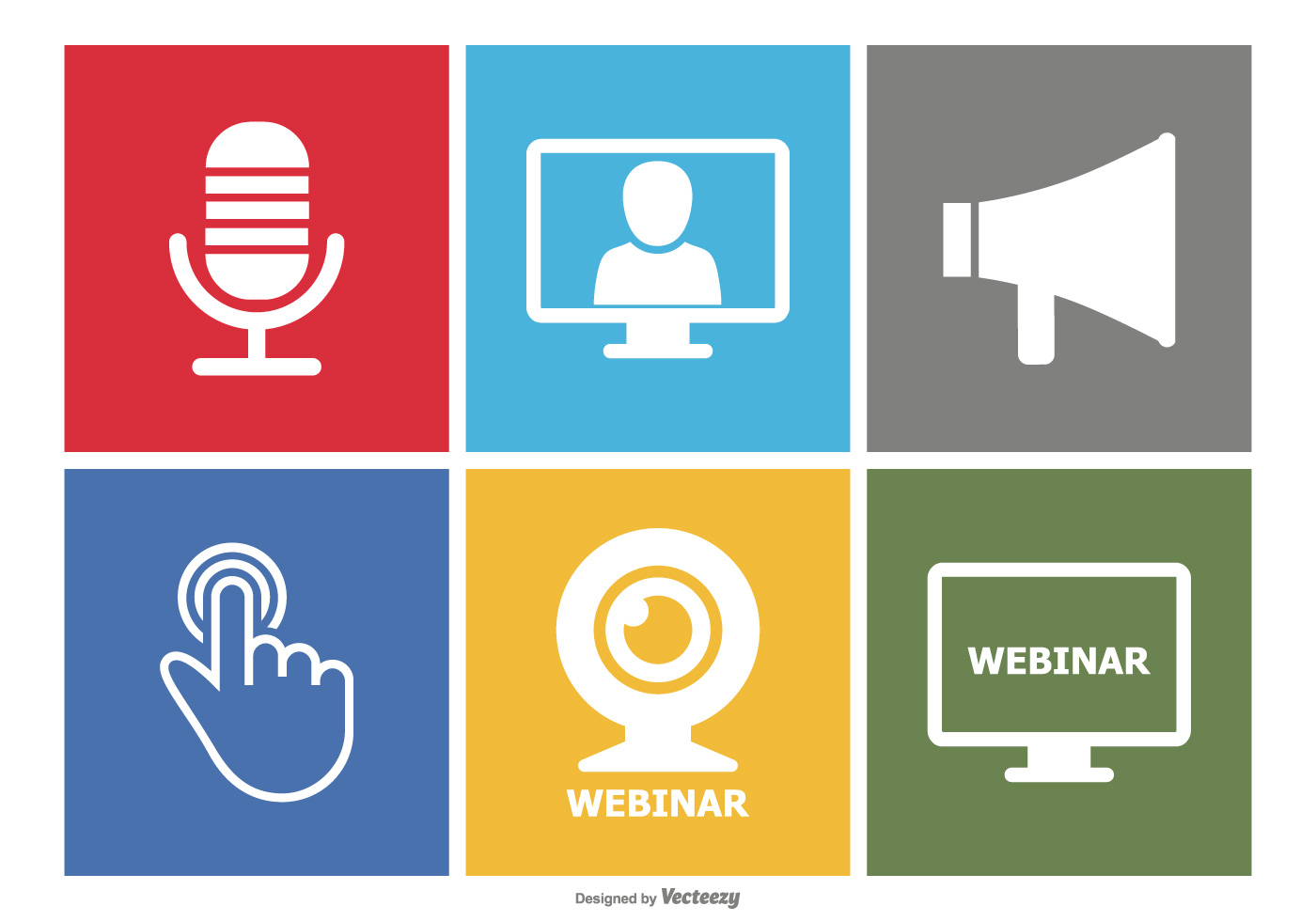 Webinar Flat Icon Set - Download Free Vector Art, Stock ...