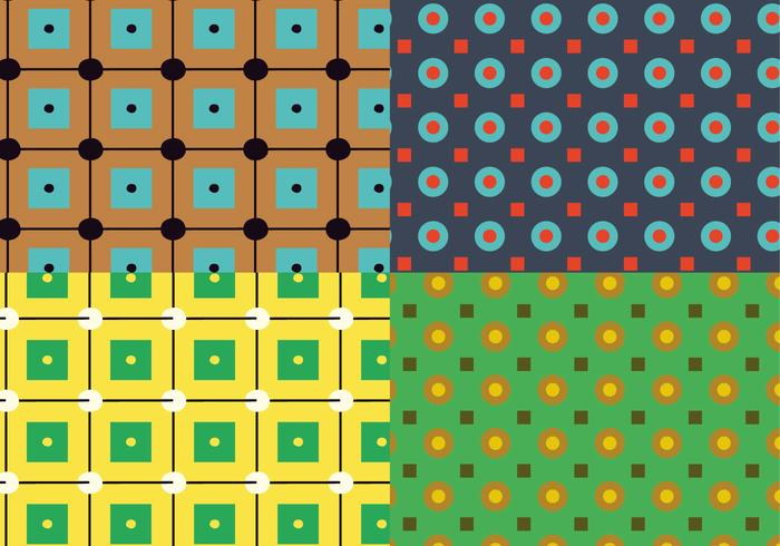 Square Circles Pattern vector