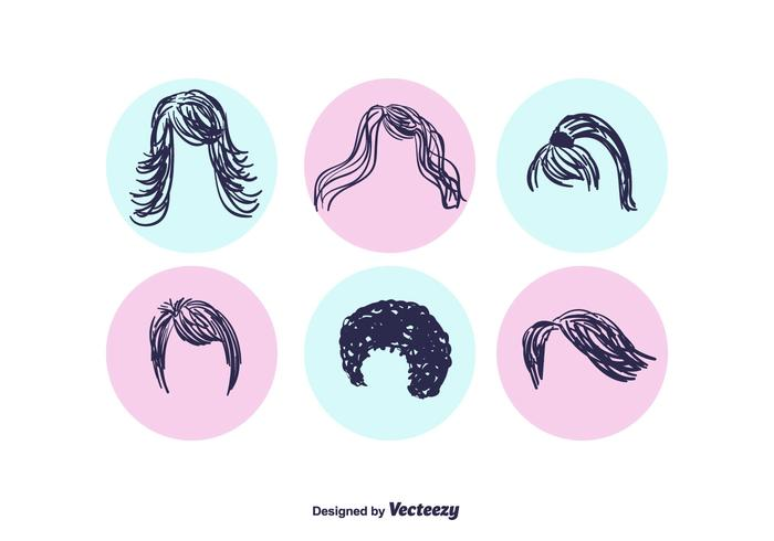 Hand Drawn Coiffure Vector