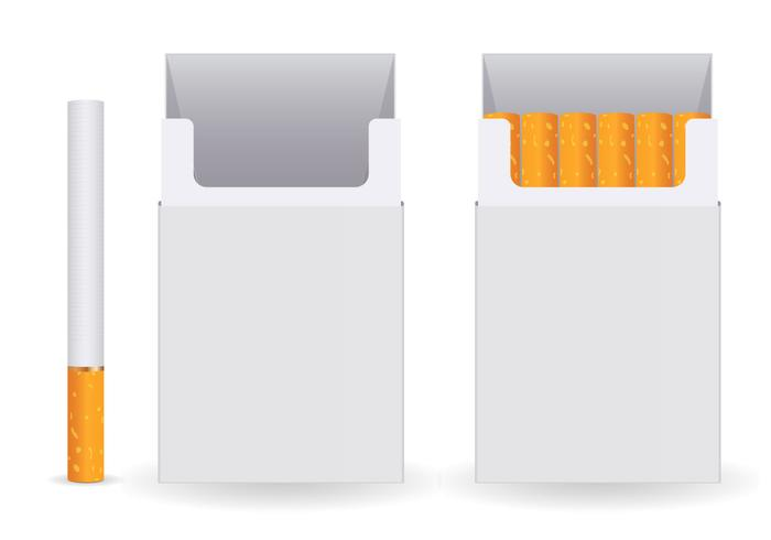 Free Pack Of Cigarettes Vector