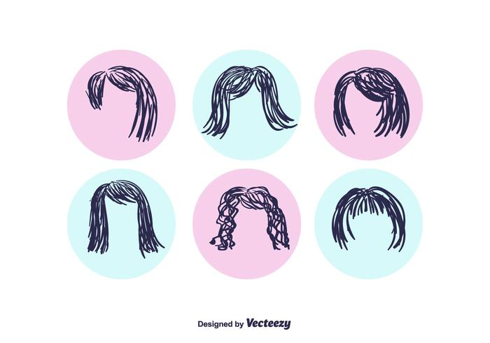 Free Hand Drawn Coiffure Vector