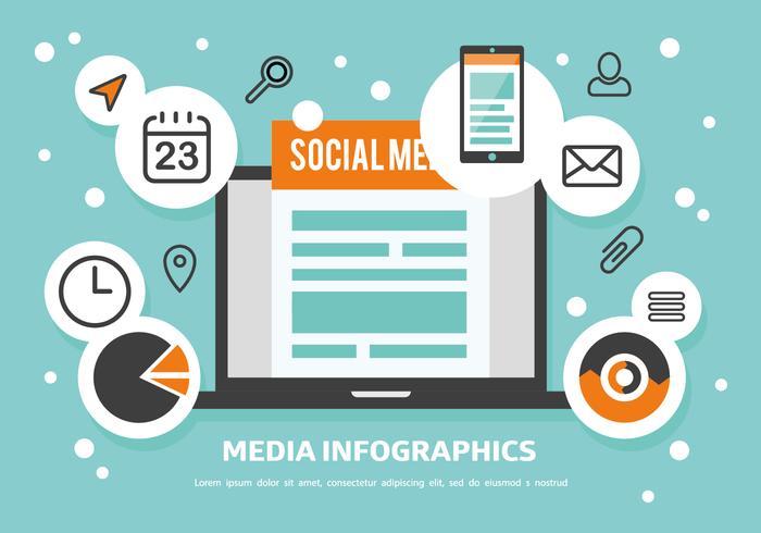 Free Media Infographics Vector