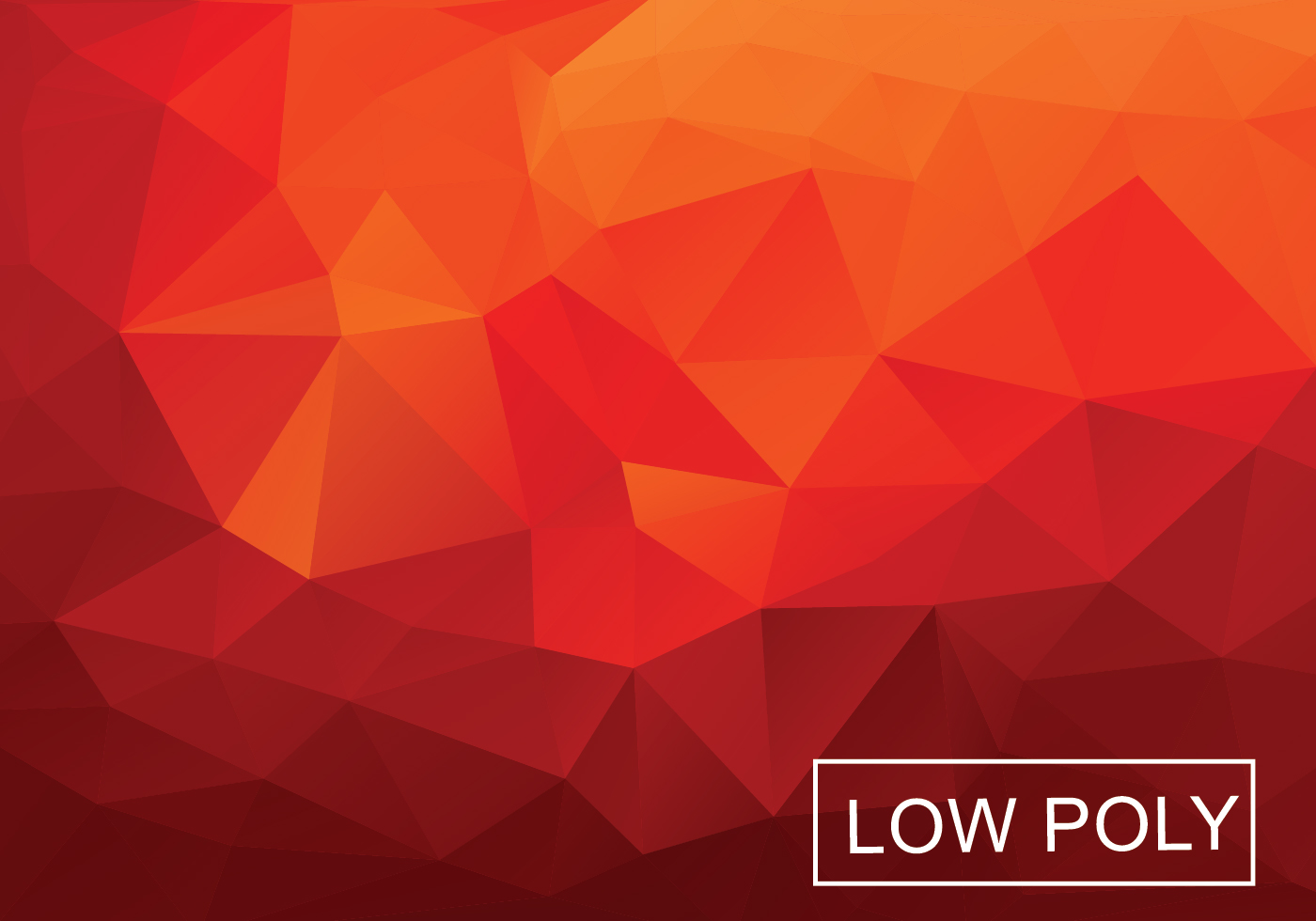 Warm Red Polygonal Background Vector - Download Free Vector Art, Stock ...