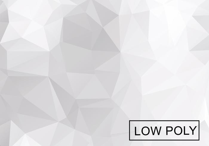 Light Grey Low Poly Background Vector