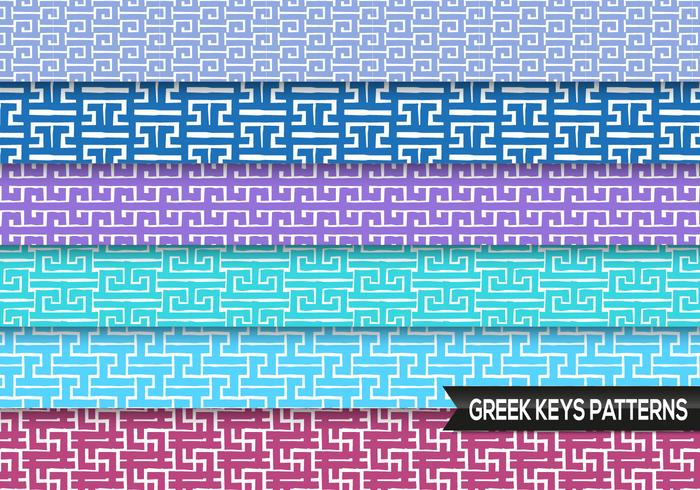 Greek Keys Patterns Vector
