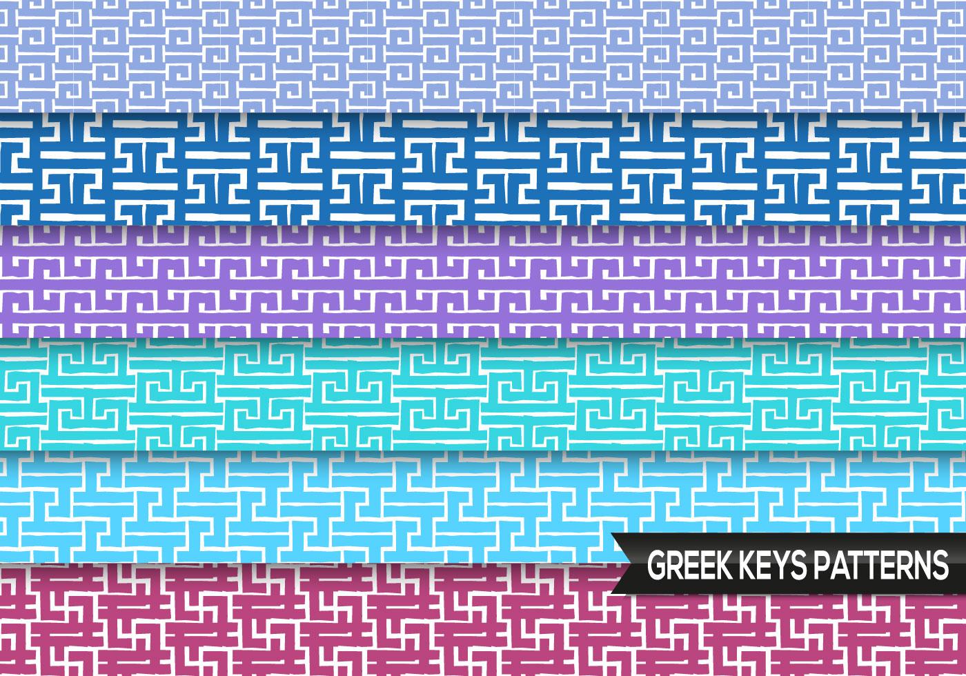 Greek Keys Patterns Vector - Download Free Vector Art ...
