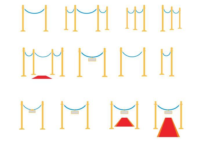 Velvet Ropes Vector gratuito