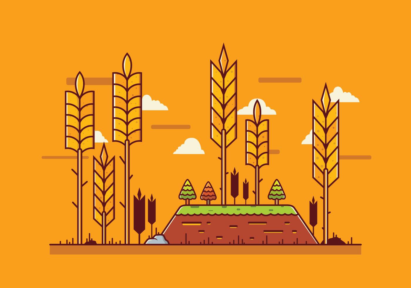 Free Wheat Stalk Vector