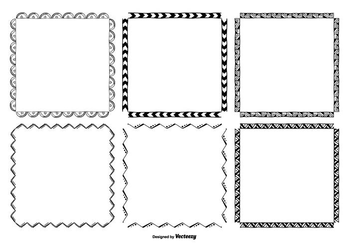 Hand Drawn Frame Set