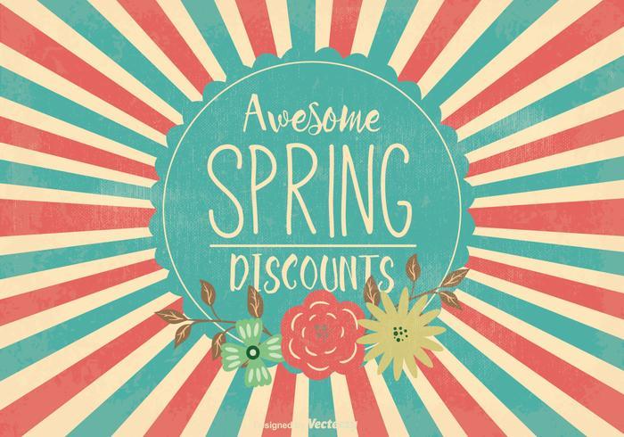Retro Spring Sale Illustration