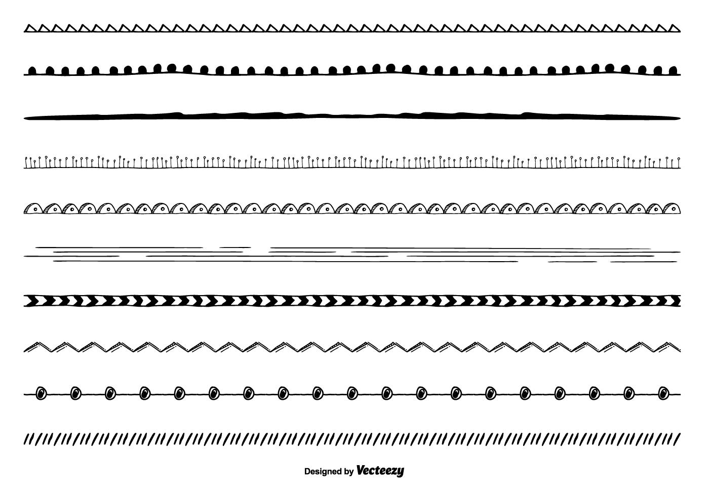 Cute Hand Drawn Border Set Download Free Vector Art
