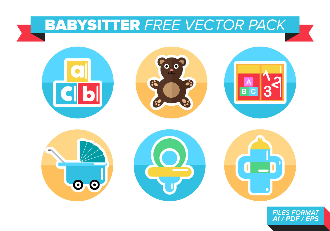 Babysitter Free Vector Pack Download Free Vector Art