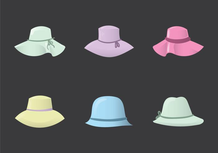 Gratis Ladies Hat Vector Illustratie