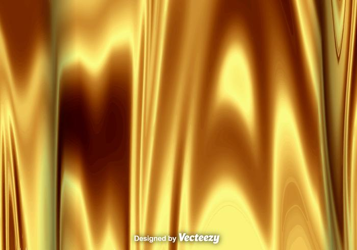 High Detailed Vector Background Of Liquid Gold Texture