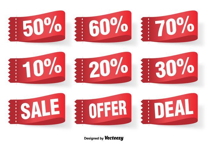 Discount Vector Labels Set