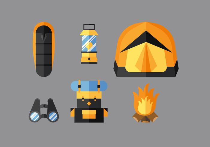 Vector Camping Stuff