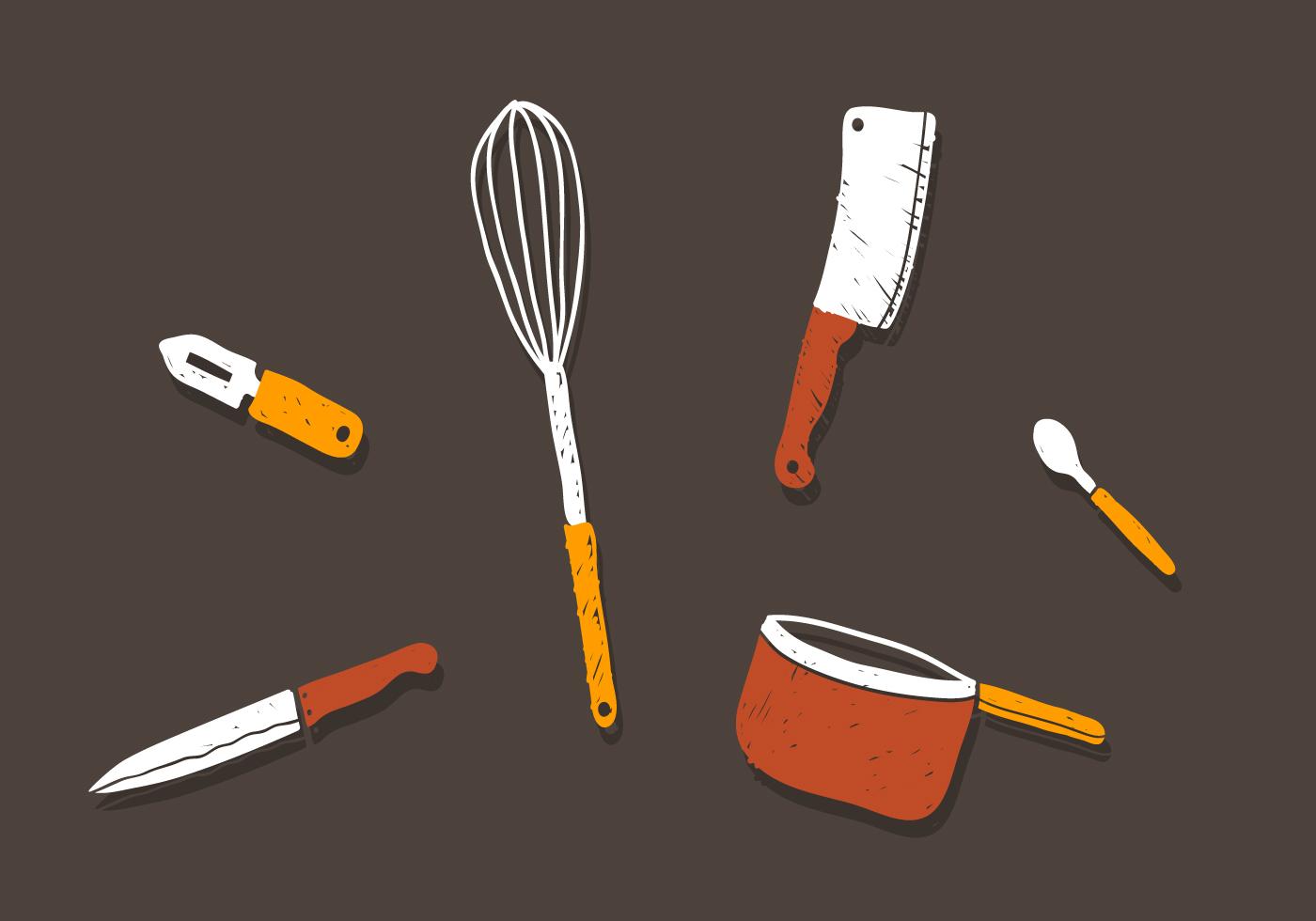 Vector Kitchen Utensils Download Free Vector Art Stock Graphics Amp Images