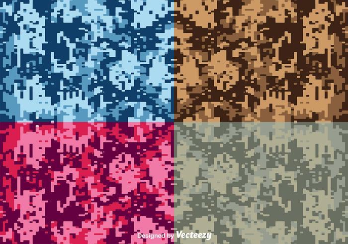 Vector Digital Camouflage Backgrounds
