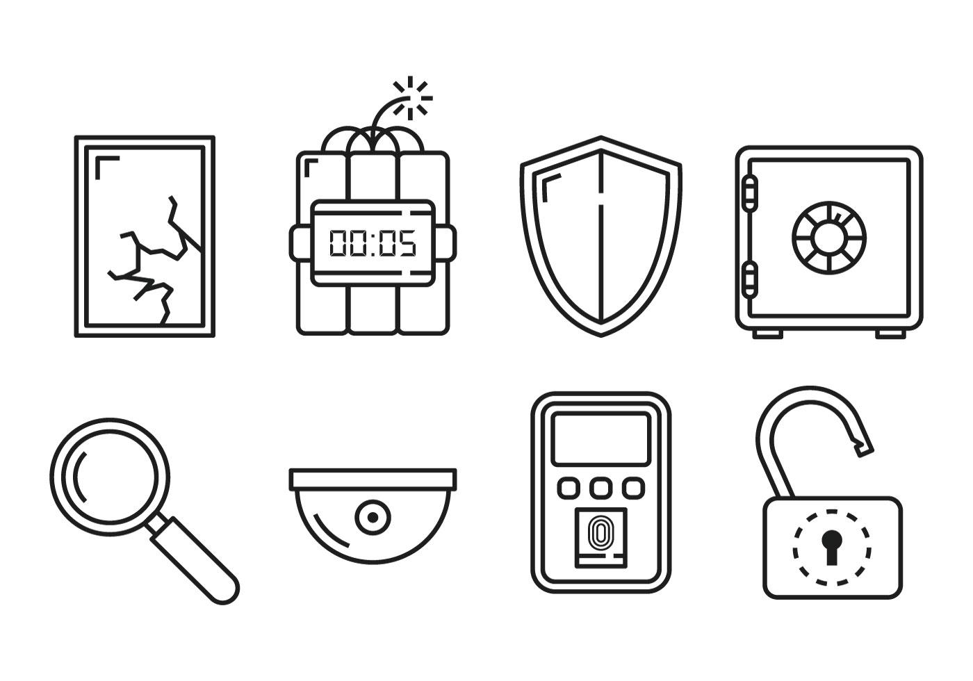 Security Linear Icon Vectors - Download Free Vector Art ...