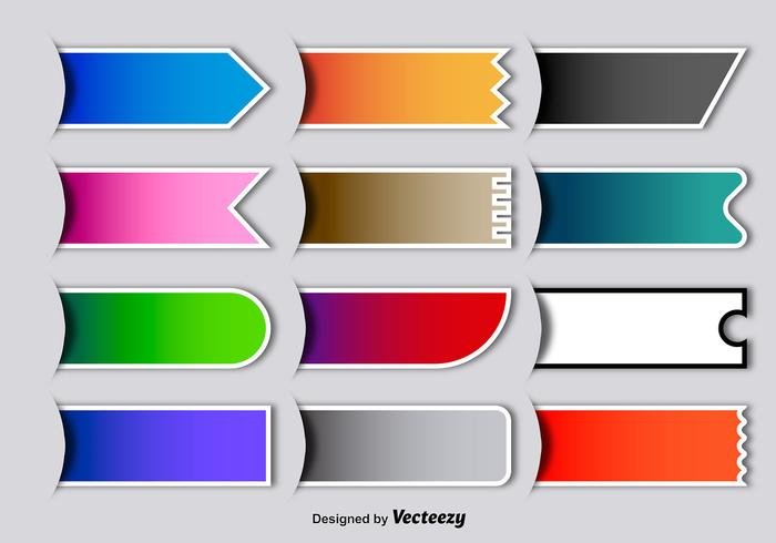 Vector Colorful Blank ...