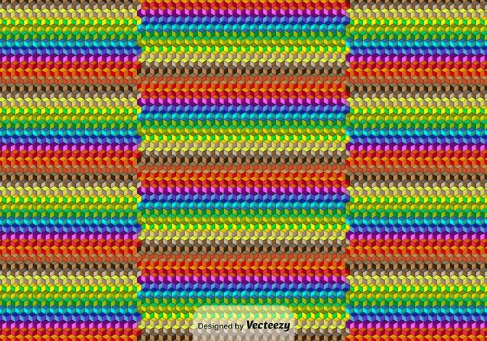 Vector Kleurrijke Kubieke Achtergrond