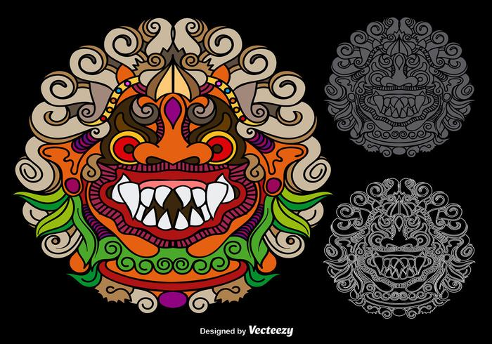 Vector Colorful Mythological Barong