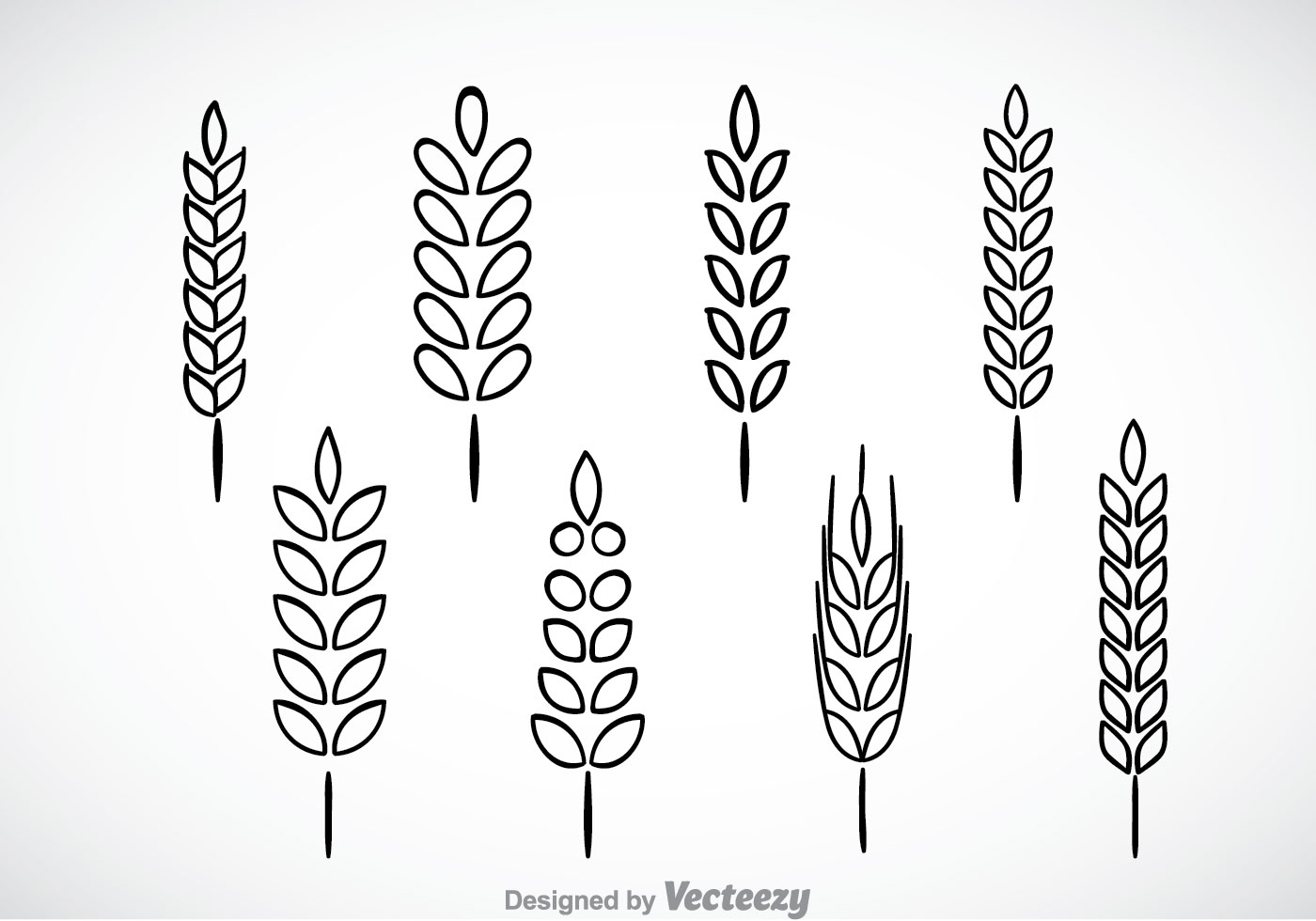 Wheat Stalk Black Outl...