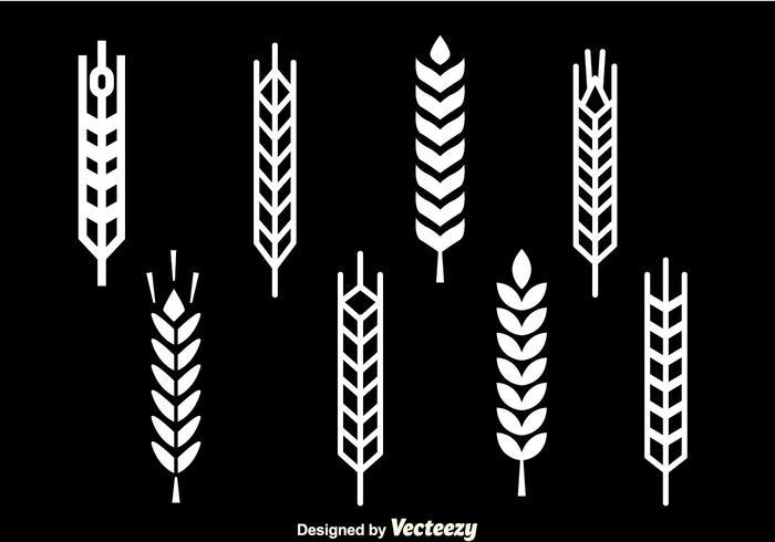 Ícones brancos de pedra de trigo