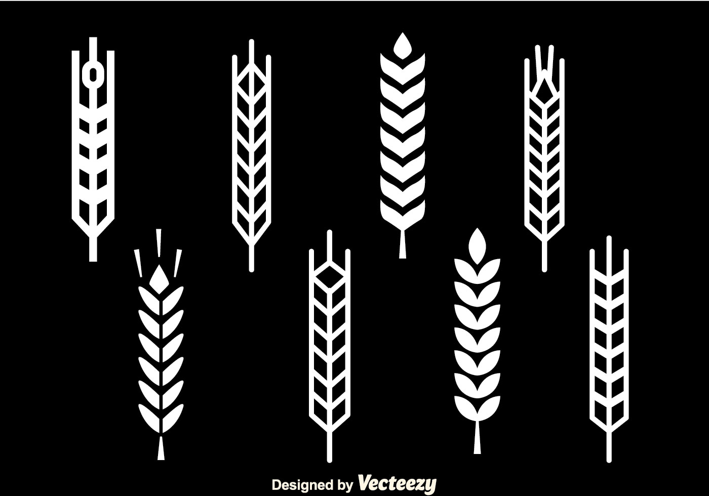 Wheat Stalk White Icon...