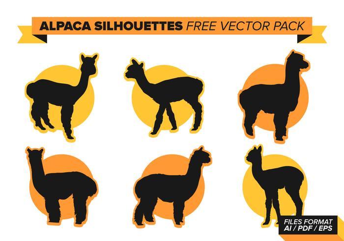 Pacote de vetores grátis Alpaca