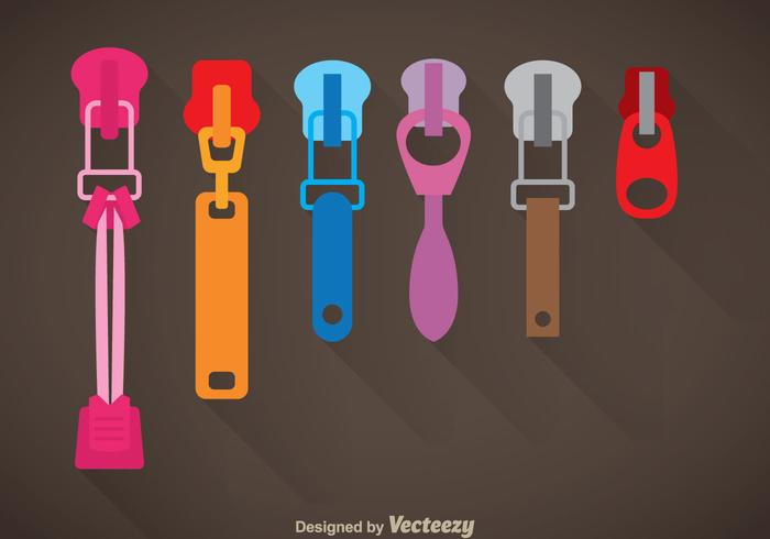 Colorful Zipper Pull Vector