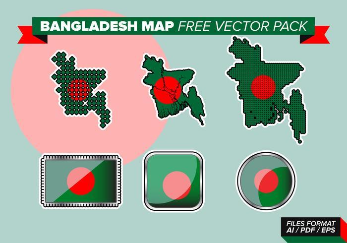 Bangladesh karta gratis vektor pack