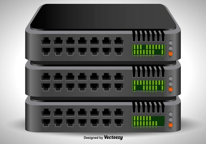 Vector 3D server rack icon