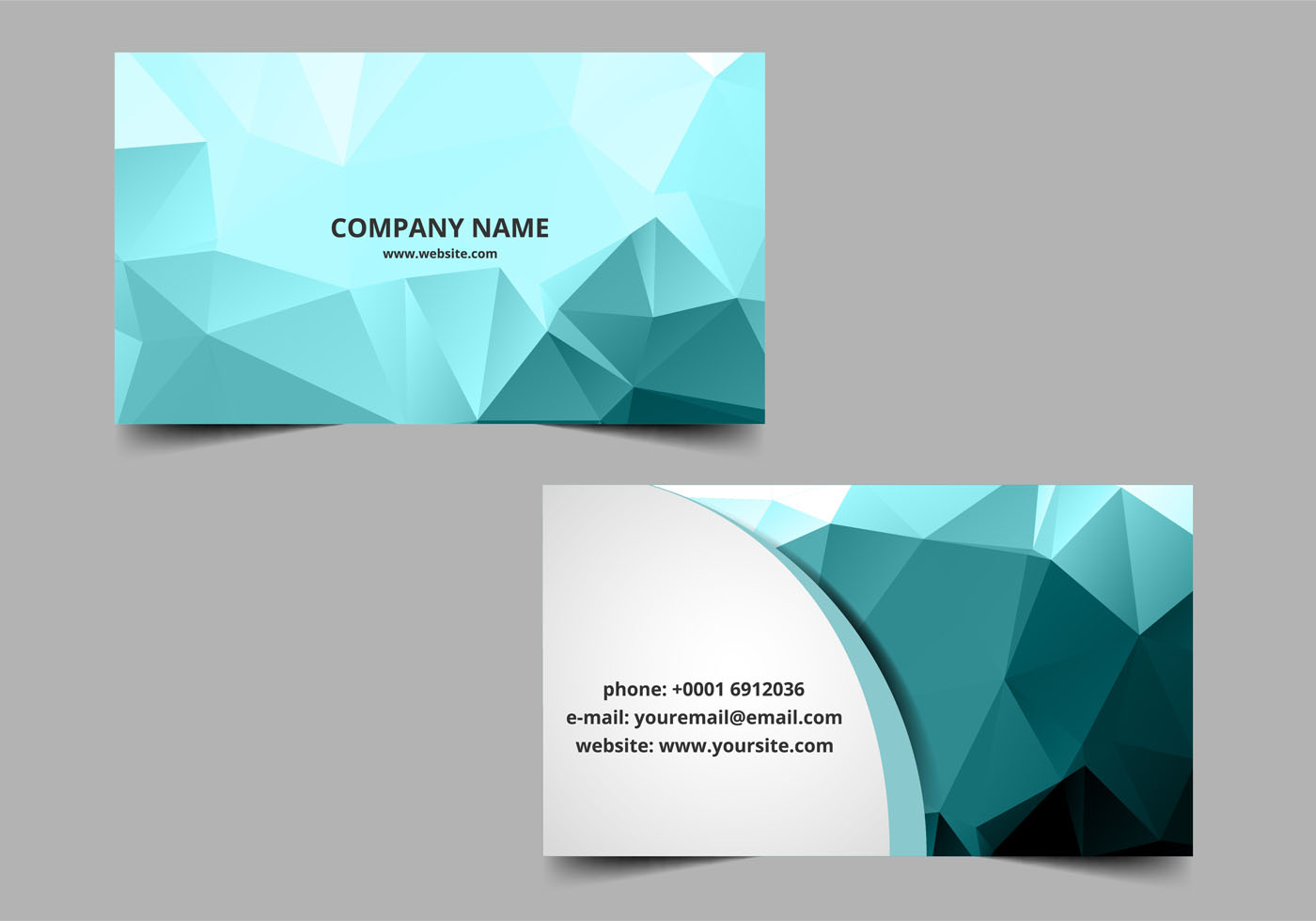 Banner Design Ideas Free Vector Polygon Visiting Card Download Free Vector