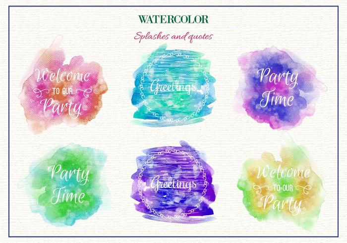 Free Vector Watercolor Splashes