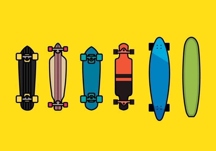 Longboard Vector Set 1