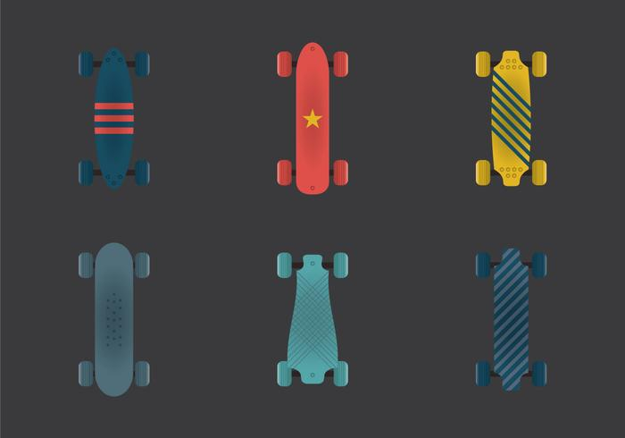 Free Long Board Vector Illustration