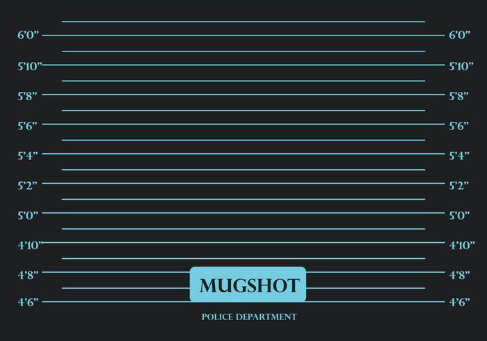 Mugshot Black Background Vector