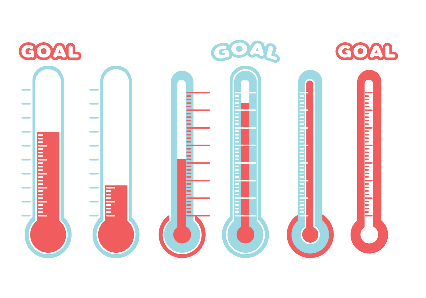 Goal thermometer free vector art 888 free downloads maxwellsz
