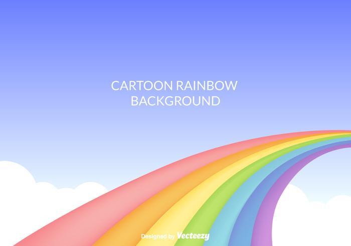 Cartoon Rainbow Vector Background