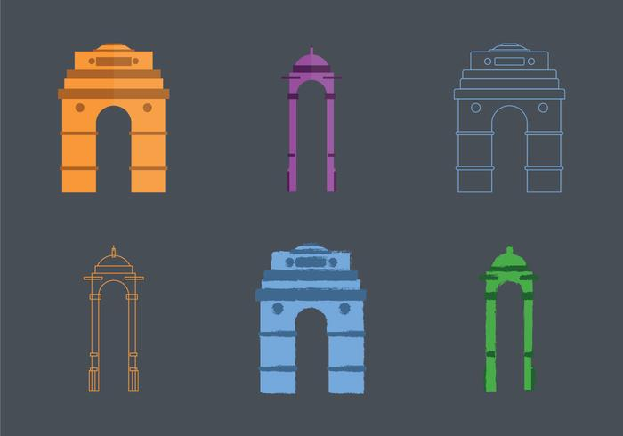 India Gate Vector Illustration gratuito